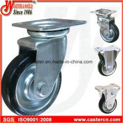 De estilo japonés, núcleo de acero Industrial Castor de ruedas de goma