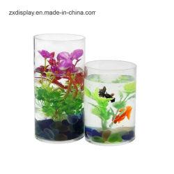 Cilindro di plastica libero su ordinazione per il serbatoio di pesci da tavolo