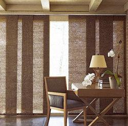 Protector solar sombras ciegas ventanas correderas de panel con tejido anti-UV