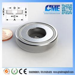 De krachtige Magneten van de Zeldzame aarde van de Pot van de Ring van de Magneet van het Neodymium N40
