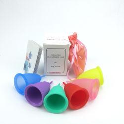 2019 Großhandelsmonatliches weibliches Hygiene-Produkt-Silikon-Monatscup der fabrik-Preis-Dame-Period Collapsible Non Spill