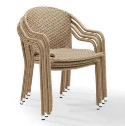 Место Председателя, терраса в саду плетеной плетеной мебели каната