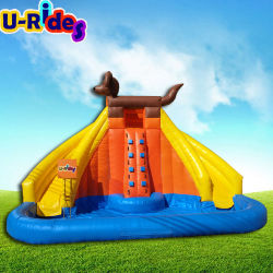 熱い販売の足犬のパトロールの膨脹可能なおもちゃ移動式水公園イベントのための膨脹可能な水スライド