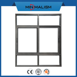 110 Serien-Aluminiummetallschiebendes Fenster mit 5mm dem doppelten glasig-glänzenden Glas