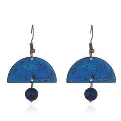 Boho Jewelry Antiqued Patina Bead Hoek Sector Geometrische Drop Oorbellen