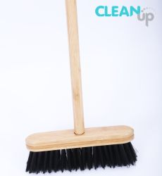 غرفة غبار خشبية للتنظيف في المنزل مع شعيرات الخيزران/تنظيف الأرضية