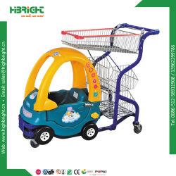 Plastic het Winkelen van het Roestvrij staal van de Kar van het Stuk speelgoed Karretje voor Jonge geitjes