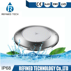 Le contrôle WiFi IP68 12V ultra mince RGBW Feux de sous-marine montés en surface en acier inoxydable 316L a conduit la lumière de la piscine le commerce de gros