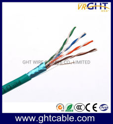 LAN van de Leider van het Koper van FTP Cat5/Cat5e 24AWG van de Kabel van het voorzien van een netwerk BinnenKabel