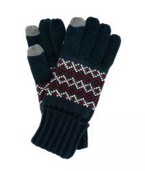 Les hommes d'hiver de façon chaleureuse en tricot jacquard Gant de l'écran tactile