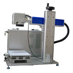 Marcador láser 50W con sistema de posicionamiento de la cámara y el eje Z la mesa de trabajo