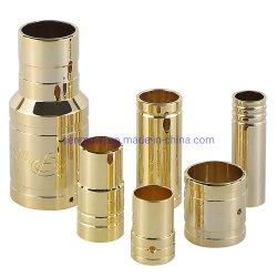 Gold-Plated 새겨지는 고압선 연결관, 24K를 위한 CNC 도는 금관 악기 부속