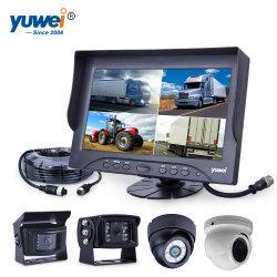 9 Quad Split Ahd Coche de alta resolución de monitor con carretilla Vhg Ahd Vista trasera de la cámara de visión nocturna de marcha atrás