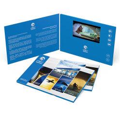 Lecteur personnalisé envois Invitation vidéo de l'écran LCD de la publicité de carte de voeux