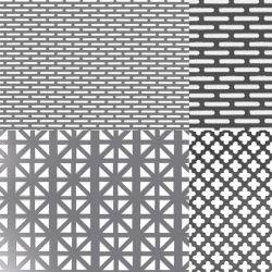 La fabricación de la fábrica de la placa de metal perforado Círculo personalizado