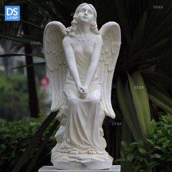 Het grote Standbeeld van het Beeldhouwwerk van de Tuin van de Engel van de Hars Vreedzame voor het Standbeeld van de Glasvezel van de Decoratie van het Gazon en van de Tuin past aan