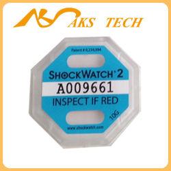 10g Shockwatch 2 sensores de impacto y los indicadores para el transporte de mercancías delicadas