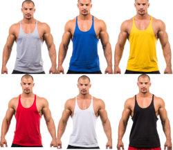 La impresión de OEM personalizada Mens algodón deporte culturismo de buena calidad Tanktop camisa chaleco