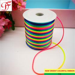 La Chine Rainbow Chinaknot/cordon queue de rat pour les saisons//festival/ Décoration/Emballage d'enrubannage/xmas/accessoires du vêtement/Cadeau ruban de velours métallique