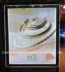 Publicidade de acrílico sem caixilho LED Crystal Caixa de Luz