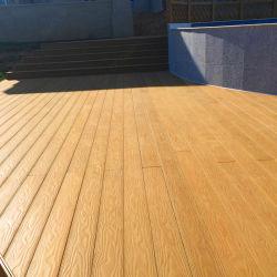 Materiale composito di plastica di legno o di bambù e di 25mm di spessore pavimentazione laminata di slittamento WPC non
