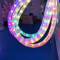 PANNOCCHIA orizzontale dell'indicatore luminoso della corda del LED PVC della radura da 360 gradi con l'indicatore luminoso UV della corda della scuderia LED