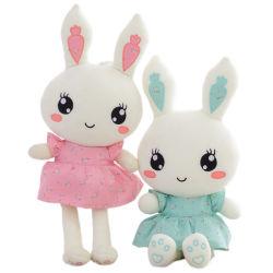 Coniglio da portare sveglio farcito molle del vestito dal giocattolo del bambino della peluche nuovo