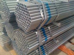 Tuyau en acier galvanisé personnalisés, de matériel Q195, Q215, Q235, Q345, SS400, S235JR, S355JR, norme BS1387, ASTM A500, ASTM A795, ASTM A53, FR10215