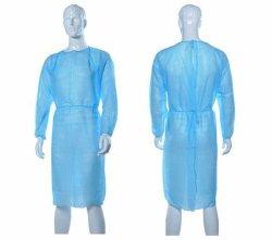 工場直売の使い捨て可能な隔離は衣類の隔離のエプロン使い捨て可能で白くか青のレベル2の隔離のガウンのエプロンに適する