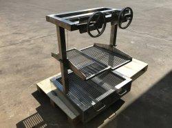 Weldon Wholesales Camping al aire libre Mini plegable portátil de acero inoxidable de carbón de leña Barbacoa
