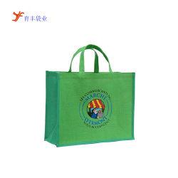 Material reciclable Logotipo personalizado sábanas Tote Compras la bolsa de yute