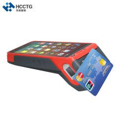 بطاقة EMV PCI معتمدة 4G Android POS طرف دفع مع 58 مم بصمة الإصبع الخاصة بماسح الرمز الشريطي ثنائي الأبعاد لقارئ بطاقات NFC IC MSR الخاص بالطابعة Moudle (HCC-Z100)