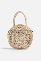 Таким образом документ из соломы спицы Бич женская сумка с круглой формы