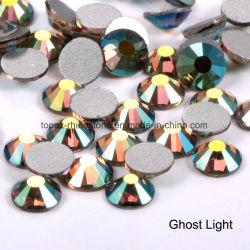 Tschechischer Glasraupe-flache Rückseiten-Kristallaufkleber-Schmucksache-Steinloser Rhinestone (FB-ss12/3.5mm /3A Grad)