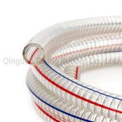 透明非毒性 PVC スチール製ワイヤホース