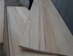 工場価格自然なカラーPaulowniaのボードの端によってつけられる純木のボードのPaulownia木価格