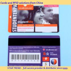 Préimprimé RFID sans contact de la carte plastique PVC MIFARE Classic 1K d'adhésion de la carte à puce