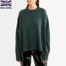 レディースのための整えられたデザインウールのブレンドによって編まれるプルオーバーのセーター