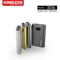 携帯電話の金属のための2A二重USBの出力電池のパックを持つ6000mAh力バンクの安全なマイクロ入力携帯用充電器