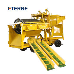 L'équipement minier or alluvial Mobile Gold Mining trommel de machines de l'équipement d'exploitation minière à petite échelle de l'or