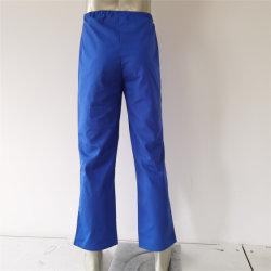 青い作業ズボンのシンプルな設計調節可能な作業服装食品工業のための緩く快適な作業ズボンか公衆衛生または病院