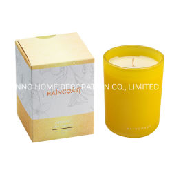 شمعات يشمّ رفاهية [200غ] زجاجيّة شمعة مرطبان معدنيّة شمعة يعبّئ