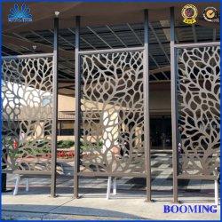 Aluminium/galvanisierte Corten Laser geschnittenen dekorativen dekorativen Metallbildschirm für Raum-Wohnzimmer/im Freienhotel-Verteilung