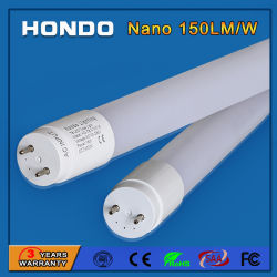 Fabricant Indoor SMD2835 1200mm 150lm/W LED TUBE T8 18W pour le stationnement