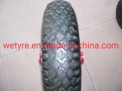 Anneau de métal haute capacité de charge gonflable Roue en caoutchouc de haute qualité pour la brouette (4.00-8)