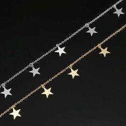 Bijoux personnalisés gros en Chine 925 Sterling Silver Gold Necklace