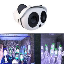 Caméra à imagerie thermique avec caméra optique thermique automatique dynamique d'alarme en temps réel de la température La température du corps humain de reconnaissance faciale
