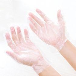 China-billig transparente preiswerte Wegwerfküche Multifunktions-PET Handschuhe