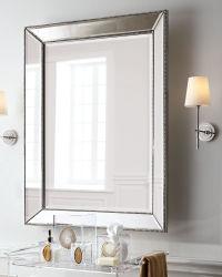 Großes gestaltet mit wulstigem Wand-Spiegel mit winkligem abgeschrägtem Spiegel-Rahmen