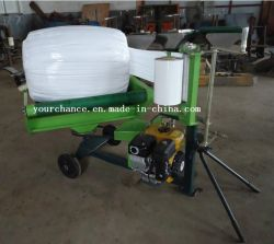 غلاف البالات الإسطوانية ذات الرافعات المستديرة Bw0810 عالي الجودة مع البنزين 6HP محرك للبيع